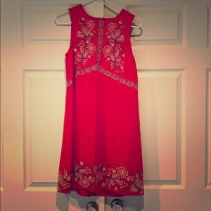 Anthropologie Aiko embroidered shift dress.
